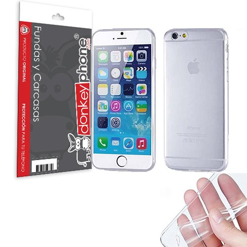 "Producto Original Donkeyphone® - FUNDA GEL TRANSPARENTE PARA IPHONE 6 Y 6S 4,7"" SILICONA ULTRA THIN - ULTRA FINA 0,33 mm"