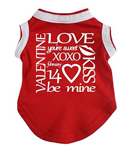 petitebelle Puppy Kleidung Hund Kleid Sie Sweet XOXO rot Baumwolle T-Shirt