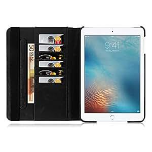 iPad Mini Case, JAMMYLIZARD 360 Rotating Retro Leather Smart Cover for iPad Mini 3rd, 2nd and 1st generation, Black