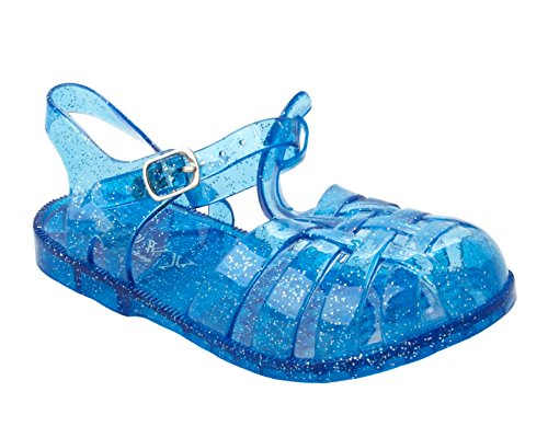 Girls Blue Glitter Summer Holiday Beach Jelly Sandals Shoes Infants UK Size 5-10 (10 UK Child)