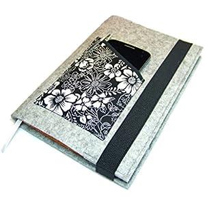 Kalenderhülle Hülle Einband Wollfilz für Din A5 Buchkalender, Notizbuch