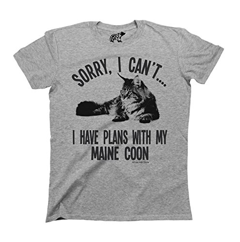 sorry-i-cant-i-have-plans-with-my-maine-coon-gatto-cat-breed-t-shirt-uomo-donna-unisex