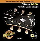 Gibson Gear SAG-J200L Cordes en phosphore bronze pour Guitare acoustique Light