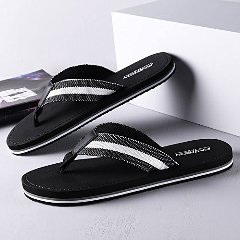 AIHUWAI Sandalen Männer Sandalen Sommer Herren Flip Flop Wild tragen Flip Flip Outdoor Beach Sandalen