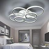 ONLT LED Moderne Plafonnier,LED panneau lumineux moderne lampe Plafonnier Lustre Bureau,LED Lampe de plafond,pour Éclairage Cuisine, Bureau,Salon et de Restaurant(lumière Froide, 6 têtes)