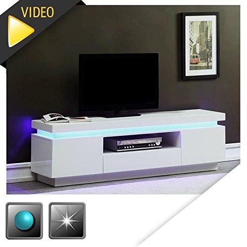 flash-meuble-tv-165cm-blanc-laque-avec-led-bleue