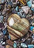 bazhahei de peinture, Coeur 5d broderie peintures Strass collé DIY peinture Diamant point de croix de peinture du Diamant 5d, perceuse du point, Coeur du pêche Les 40* 30cm décoration L multicolore
