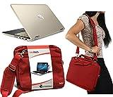 Navitech Rot prime Case / Cover Trage Tasche für das HP