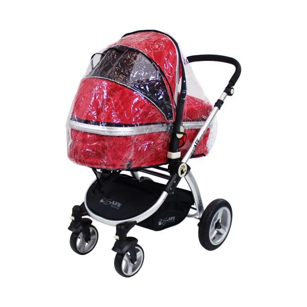 iSafe 2 in 1 Baby Pram System Complete (Red) iSafe 2 in 1 Stroller / Pram Extremely Easy Conversion To A Full Size Carrycot For Unrivalled Comfort Complete With Boot Cover, Luxury Liner, 5 Point Harness, Raincover, Shopping Basket With Closed Ziped Top High Quality Rubber Inflatable Wheels With The Full All around Soft Suspension For That Perfect Unrivalled Ride 8