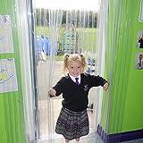 Rayflex Juego de Cortinas de Puerta plástico PVC para colegios y guarderías – 1500 mm x 2200 mm