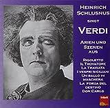 Heinrich Schlusnus Sings Verdi [Import anglais]