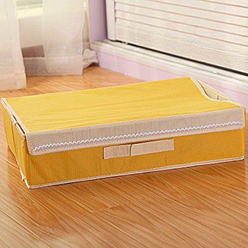 KM-Storage Boîte de rangement pliable avec compartiments et rabat pour sous-vêtements, chaussettes, cravates, etc.