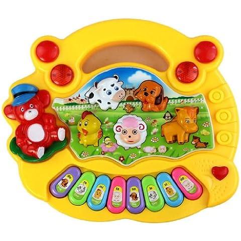 Maolanku Nuovo Bambino Fattoria di animali Pianoforte Musica giocattoloallo sviluppo Giallo