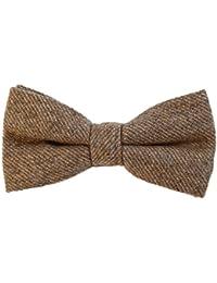 DonDon Herren Fliege 12 x 6 cm Baumwolle gebunden und längenverstellbar Farbauswahl