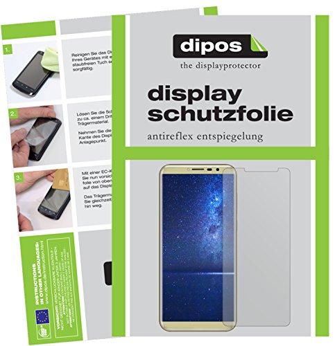 dipos I 2X Schutzfolie matt passend für Cubot X18 Folie Displayschutzfolie