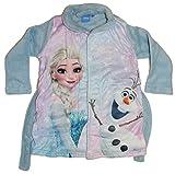 Disney Frozen Die Eiskönigin Mädchen Bademantel (92, Hellblau)