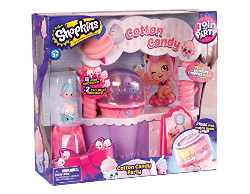 Shopkins Cotton Candy Zuckerwatte Party Spielset (Cotton Holder Candy)