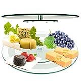 45cm Glas Lazy Susan Rotierende Plattenteller Servierplatte Käse gehärtetem Teller