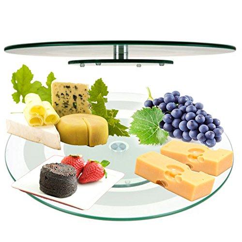 Plato giratorio cristal 45 cm servir queso plato templado