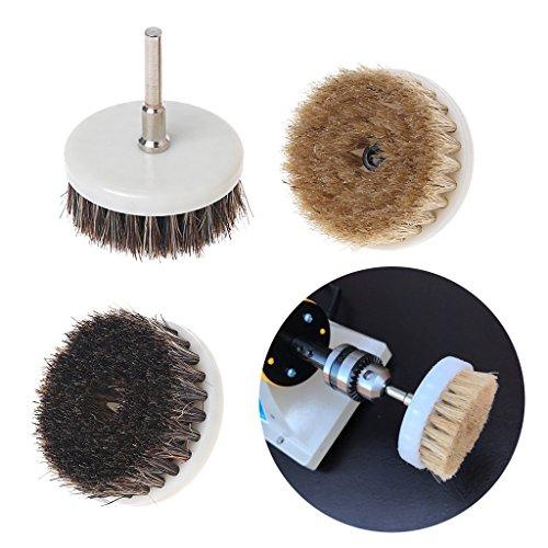 Yunso 60mm Power Peeling Bohrer Pinsel für Reinigung Stein Baren fliesen holzboden Kunststoff Dicken teppich Dickes tuch (Schwarz)