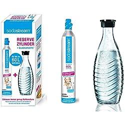 SodaStream 1100065490 Cylindre CO2 supplémentaire pour 60l Bouteille en verre incluse
