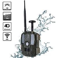 ZXL Beutekameras Wildlife Trail Kamera 4G Jagd Kamera GPS FTP Kamera Trail E-Mail Mit 4G Jagd Wildlife Kamera Unterstützung MMS GPRS GSM Foto Traps 4G Nachtsicht