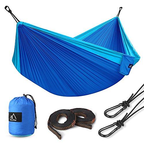 Terra Hiker Hamac de Camping pour 1-2 Personnes, Hamac Double, 300 x 200...