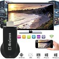 MiraScreen Dongle 1080P Adaptateur d'affichage HDMI WiFi, Support DLNA MiraCast Compatible AirPlay (iPhone, iPad, Mac), Installation gratuite (pas d'APP, pas de pilote) TV Dongle