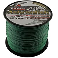 Ashconfish Hollow Core Braid Fishing Line - 16 Strands Multifilament Super Power Fishing Wire 300m/328Yards 250LB Moss Green