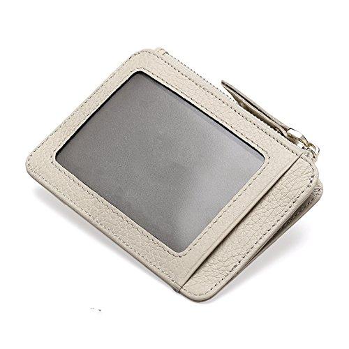 Artmi Damen Kreditkartenhülle Brieftasche Mini Herren Geldbörse mit Schlüsselanhänger Zipper Card Case mit ID Window (Id Brieftasche Damen)