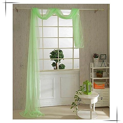 snowp 82* 550cm romántico Color puro gasa cortinas cortina de puerta ventana para salón boda banquete