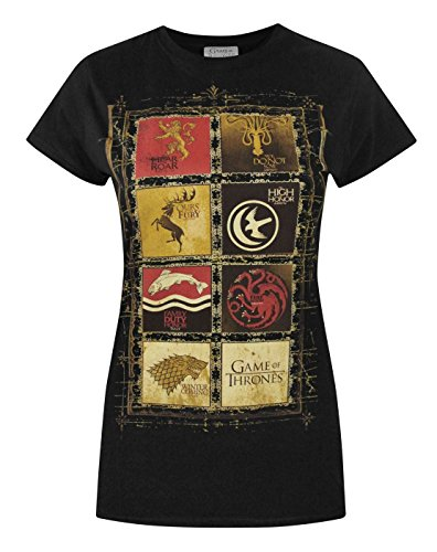 Damen - Official - Game Of Thrones - T-Shirt (XXL) (Tees Graphic Tv-show)