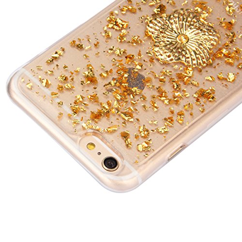 iPhone 6S Plus Silicone Case,iPhone 6 Plus Coque - Felfy Ultra Slim Transparent Flexible Soft Gel Luxe Case Bling Sparking Glitter Diamond Protection Souple TPU Case Cover Coque Etui Housse (or Case o or Case or Pêches