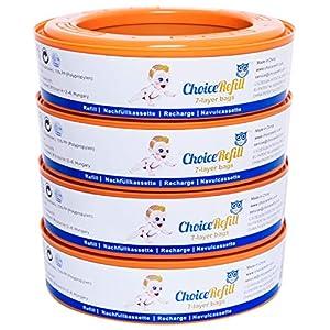 ChoiceRefill Nachfüllkassetten für Angelcare Windeleimer (4er Pack)