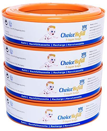 ChoiceRefill per Angelcare sistema di smaltimento pannolini (4-Pezzi)