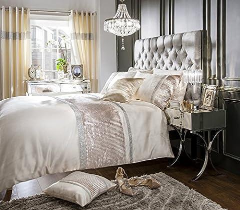 Home Bedding Store Super King Size Luxury Velvet Cream Diamante Duvet / Quilt Cover Bedding Set
