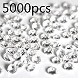 TOAOB 5000 Pieces 4.5mm Small Clear Acrylic Diamond Wedding Table Scattering Crystals for Wedding Bridal Shower and Birthday Party Decoration