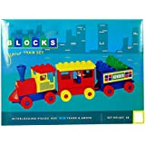 Grab Offers Kinder Blocks Junior Train Set - Interlocking Architectural Set For Kids.(Multicolor)