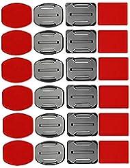 SHOOT 12er Klebebefestigung Adhesive Aufkleber Halterung für GoPro 6 5 4 3 + 3 2 Helm Halterung tonsee