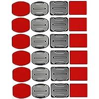 SHOOT Kit de Accesorios para el Casco 12x Soporte Superficie + 12x Adhesivos Pegatinas para GoPro Hero 7/6/5/4/3+/3 SJ4000 SJ5000 Cámaras de Acción