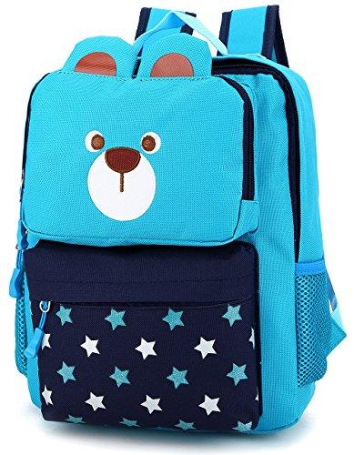 Imagen de  infantil estrellas guarderia escuela viaje saco perro oso animales mascotas viaje azul niño