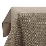Deconovo Leinenoptik Tischdecke Wasserabweisend Tischwäsche Lotuseffekt Tischtuch 130x220 Leinen