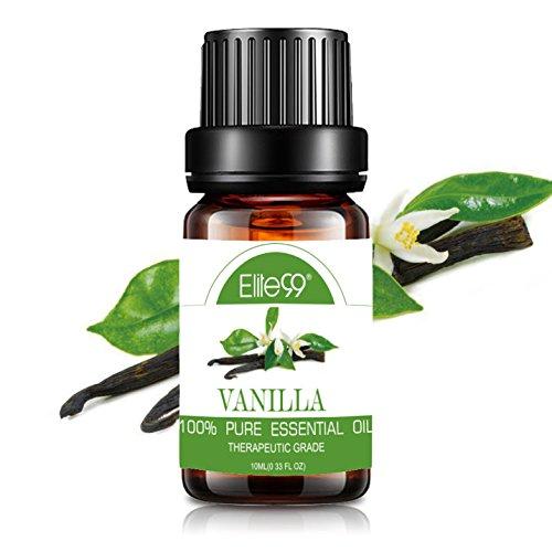 Elite99 Aceites Esenciales, Aceites Esenciales para Humidificadores de Vainilla, Aceites de Aromaterapia 100% Puros 10ml