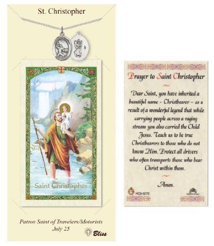 St. Christopher Prayer Card & Medal for Football Players by Church Supply Warehouse