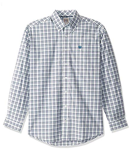 Cinch Herren Classic Fit Shirt Hemd, Plaid White and Spray, XX-Large -