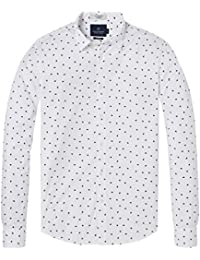 Scotch   Soda Longsleeve Shirt with All-Over Print, Chemise Casual Homme 48ad2db81485