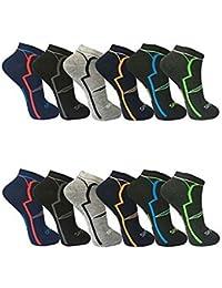 BestBuy-Shop 12pares HOMBRE Zapatillas/Calcetines para deporte y ocio-Alto contenido de algodón-Diseñado en Alemania-Tamaño 39-42, 43-46, diseño 1, 43-46