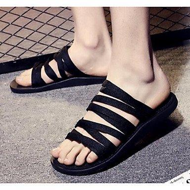 RTRY Donna Sandali Comfort Pu Molla Casual Piatto Nero Black Us8 / Eu39 / Uk6 / Cn39 US8 / EU39 / UK6 / CN39