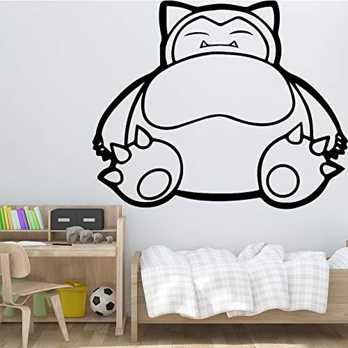 XL 58 cm X 47 cm Lustige Tier Wandaufkleber für Kinderzimmer Schlafzimmer Dekoration Zubehör Vinyl Abnehmbare Aufkleber Wasserdicht Art Decor Tapete (Flash-karten Arten Tiere Aller)