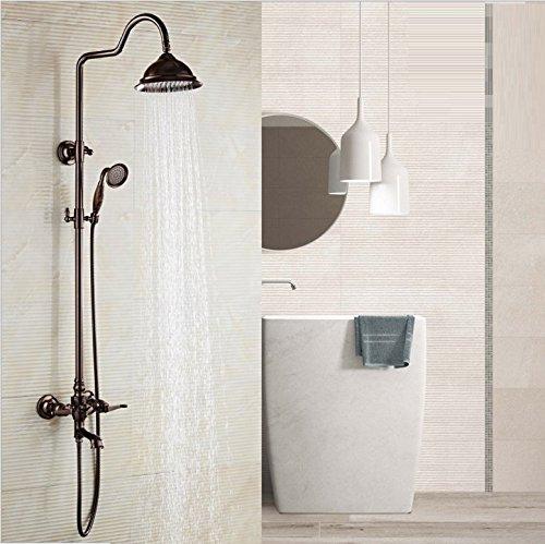 Zxy Home Bad ZXY europäische kupfer dusche bad sprinkler anzug eine drei zentralen kontrolle konstante temperatur spray mobile lift kalt - heiß